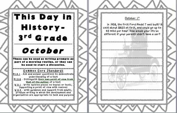This Day In History - October (Preview - First 5 Days)