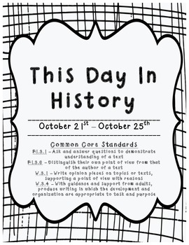 This Day in History: October 21st - October 25th