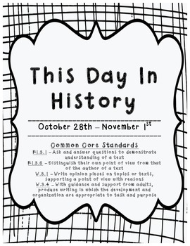 This Day in History: October 28th - Novemeber 1st