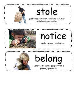 This Is NOT My Hat Vocabulary Cards