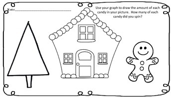 Gingerbread House Spin, Graph and Draw w/ Counting Emergen