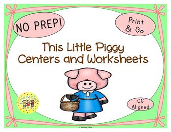 This Little Piggy Worksheets Activities Games Printables and More