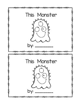 This Monster~ emergent reader