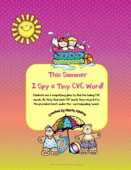 This Summer I spy a Tiny CVC Word!