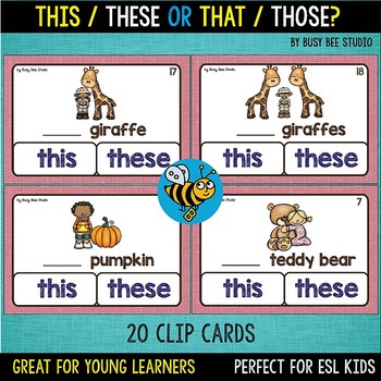 ESL Grammar: This/These or That/Those?