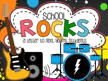 School Rocks: An end of year writing prompt and craftivity