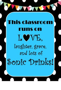 This classroom...Sonic Drinks Quotes Poster