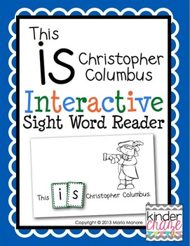 """Interactive Sight Word Reader """"This IS Christopher Columbus"""""""