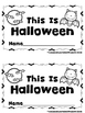This is Halloween  (A Sight Word Emergent Reader and Teach