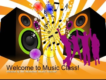 This is a first day of school powerpoint for general music class.