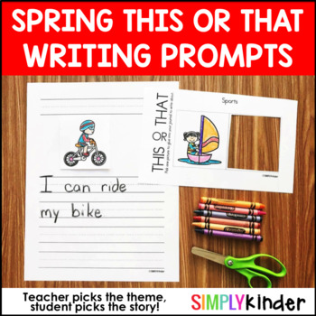 Spring Writing - This or That Writing Prompts