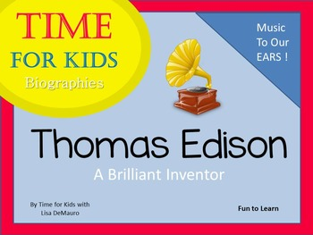 Thomas Edison A Brilliant Inventor ~ Time for Kids 29 pg.