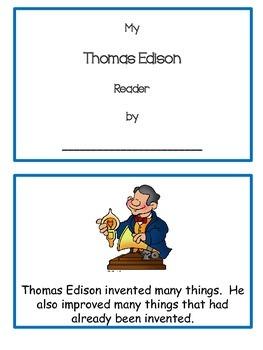 Emergent Reader Thomas Edison