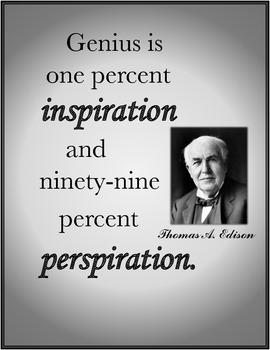 Thomas Edison GENIUS Inspirational Quote