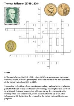 Thomas Jefferson Crossword