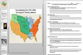 Thomas Jefferson's Presidency and The Louisiana Purchase P