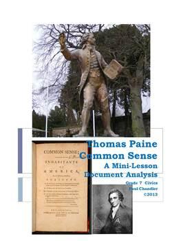DBQ: Thomas Paine Common Sense--Close Reading  Lesson