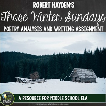 Those Winter Sundays Poetry Analysis and Writing