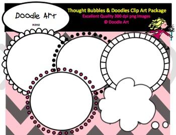 Thought Bubbles & Doodles Freebie