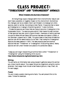 Threats to Survival Project