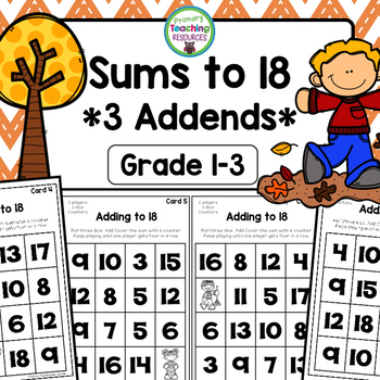 Adding Three Addends Game: Fall