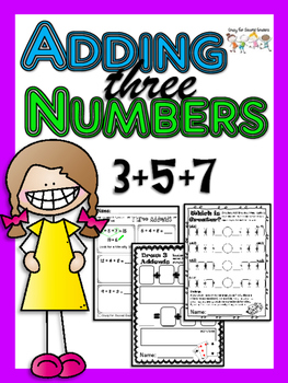 Three Addends:  Three different activities for adding thre