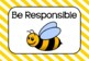Three B's Posters - Be Safe, Be Responsible, Be Respectful