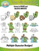 Three Billy Goats Gruff  Fairy Tale Clip Art Set — Over 50