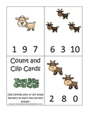 Three Billy Goats Gruff themed Count and Clip preschool ed