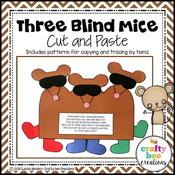 Three Blind Mice Cut and Paste