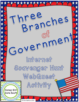 Three Branches of Government Internet Scavenger Hunt WebQu