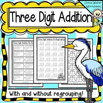 Three Digit Addition Worksheets, Printables - With and Wit