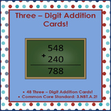 Three-Digit Addition Cards!