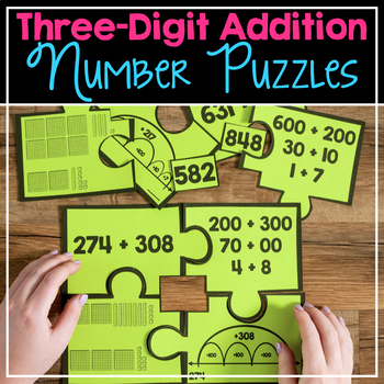 Three-Digit Addition Number Puzzles