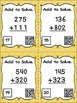 Three Digit Addition Without Regrouping - 24 Task Cards wi
