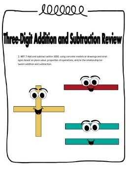 Three Digit Addition and Subtraction Review