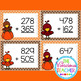 Three Digit Addition with Regrouping Autumn Themed Task Cards