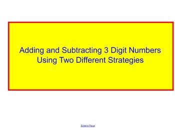 Three Digit Addition/Subtraction