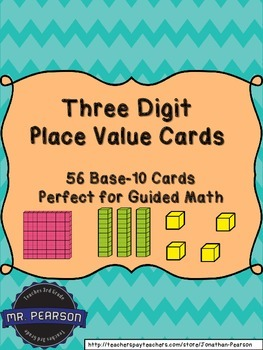 Three Digit Base-10 Number Cards - A Multi-Purpose Math To