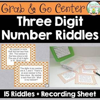 Three Digit Number Riddles