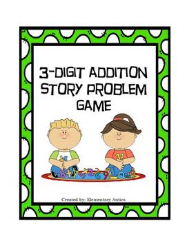 Three Digit Story Problem Game