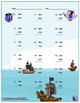 Three Digit Subtraction Worksheets - Pirate Themed - Vertical