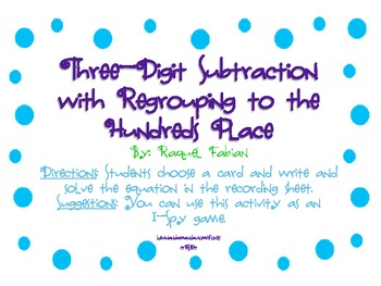 Three-Digit Subtraction w/ Regrouping to Hundreds Place (C