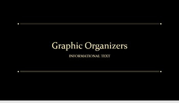 Three Graphic Organizers for Classroom Viewing