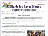 Three Kings' Day / El Día de los Reyes Magos Reading Sub Plan