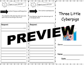 Three Little Cyberpigs Storytown Comprehension Trifold