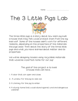 Three Little Pig Lab