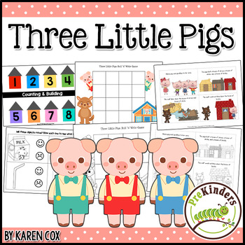 Three Little Pigs: Activity Pack {Pre-K, Preschool}