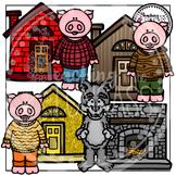 Three Little Pigs Clipart Bundle
