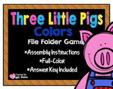 Three Little Pigs Colors File Folder Game